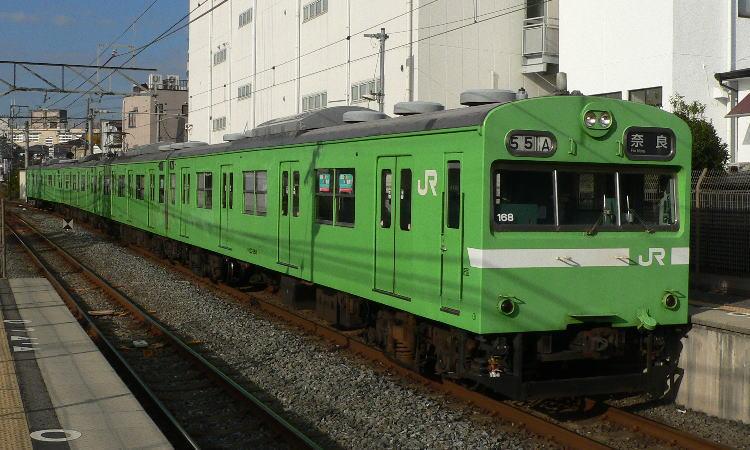 NS402編成 103系 NS402編成表   ←京・奈・加   JR難波→ 号車 4...