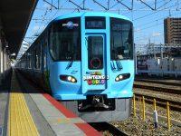 【JR西日本] 森ノ宮所323系に新ラッピング列車『スーパー・ニンテンドー・ワールド』が登場