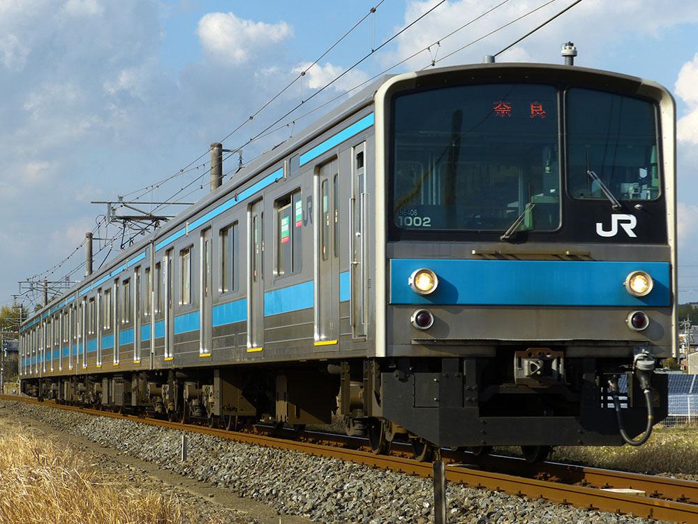 JR奈良線 棚倉駅付近を快走する205系1000番台