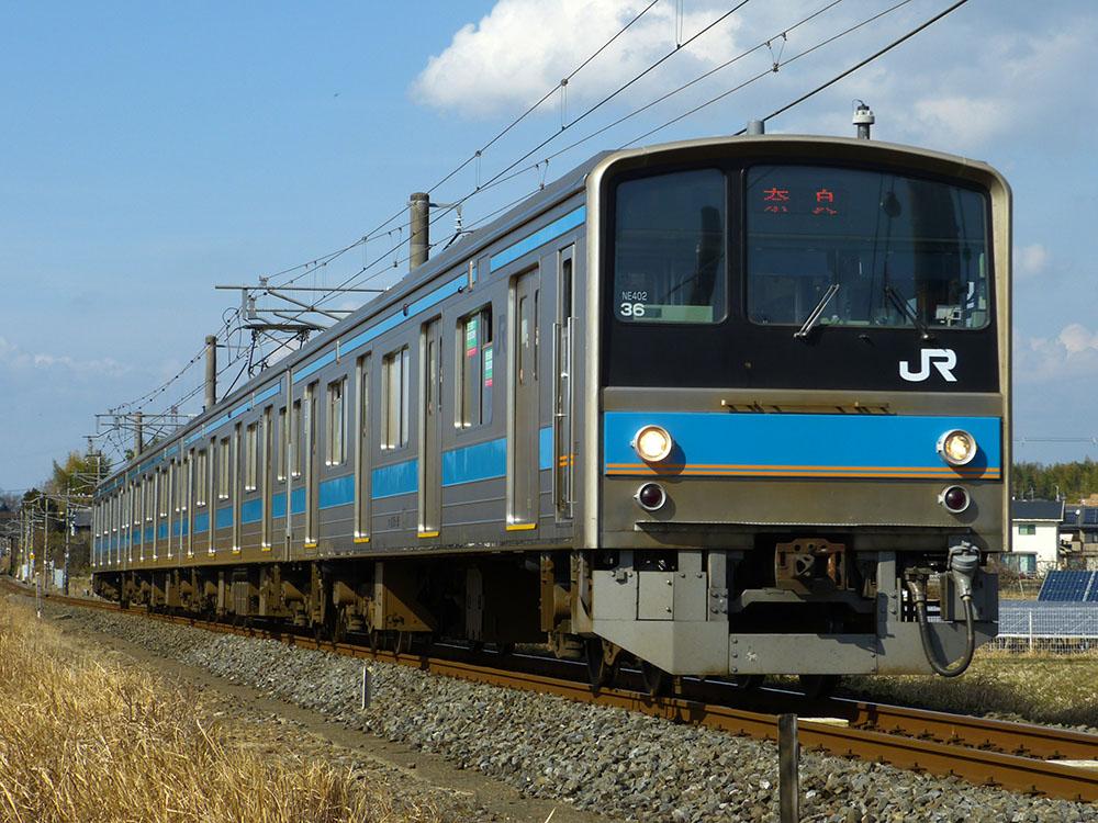 JR奈良線 棚倉駅付近を快走する205系0番台