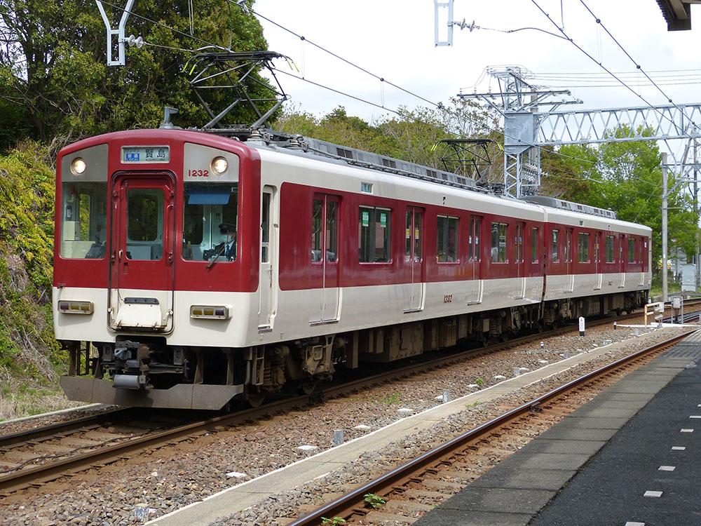 近鉄志摩線賢島駅に到着する1230系のワンマン普通