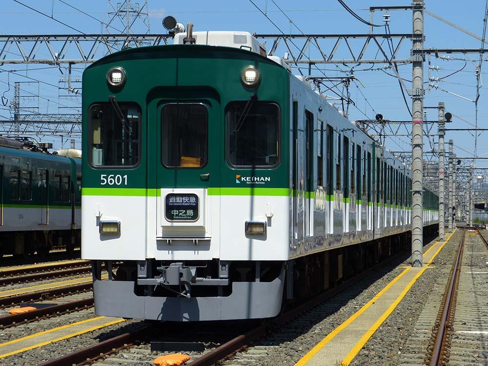 京阪5000系 通勤快急中之島表示