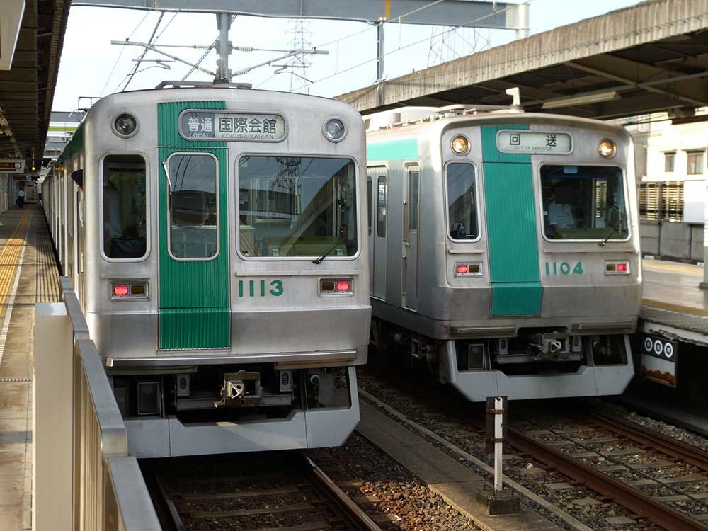 京都市営地下鉄10系  竹田駅にて