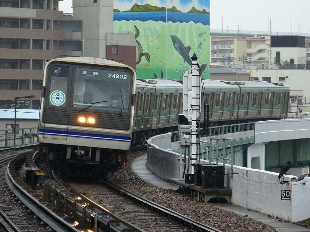 中央線24系「Osaka Point」ラッピング編成  朝潮橋駅にて