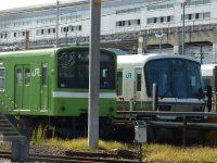 【JR西日本】宮原支所留置中の221系・201系の様子(10月)
